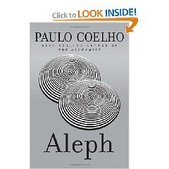 Aleph by Paulo Coelho  amazing story of reincarnation and more   This is the Hardcover 'Deckle Edge' edition my favourite :)