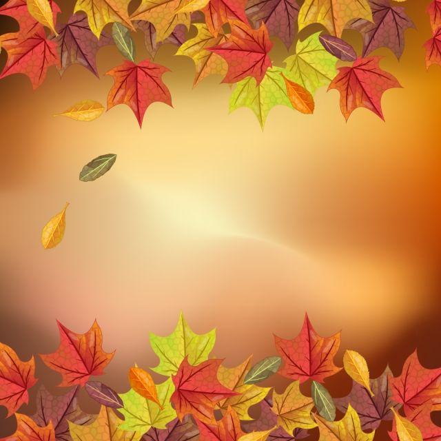 2020 的 Lovely Autumn Background With Realistic, Autumn
