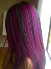 This is the color purple that im going for, for highlights in my hair.