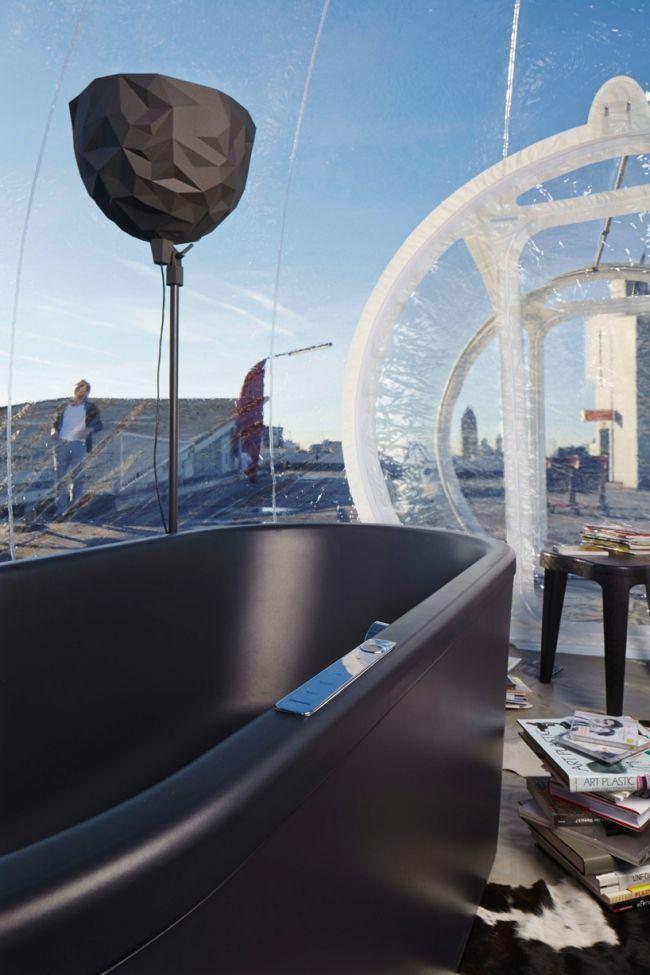 Das aufblasbare mobile Badezimmer Bubble zeigt die zukünftigen - designer heizkorper minimalistischem look