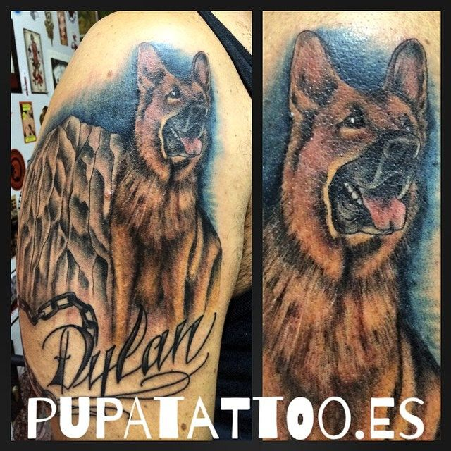 https://flic.kr/p/yWU8gC | Tatuaje Pastor alemán Pupa Tattoo | Pupa Tattoo Art Gallery C/Molinos, 15 18009 Granada Spain Telf.: 958 22 12 80  instagram.com/pupa_tattoo twitter.com/PupaTattoo www.pupatattoo.es