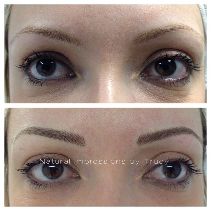 17 best images about semi permanent eyebrow hairstroke for Semi permanent tattoo eyebrows