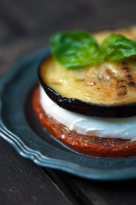 Eggplant and mozzarella melts. Low carb, no bread, gluten free, veggies, dinner, easy, quick meals