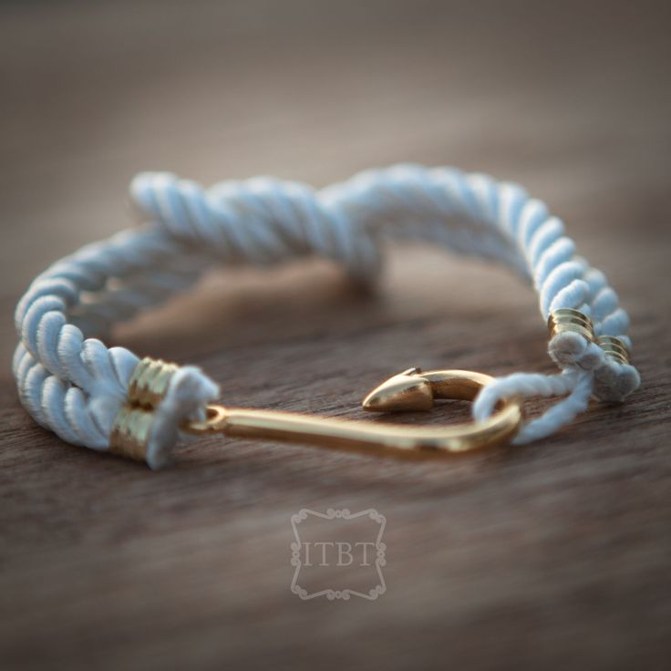 NEW Gorgeous White Fish Hook Bracelet - Nautical Accessories - Summer Jewelry