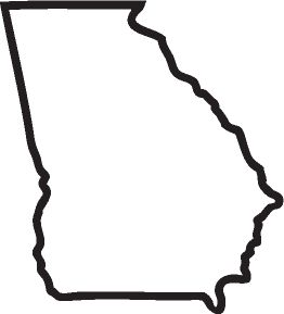 state of georgia outline - Google Search