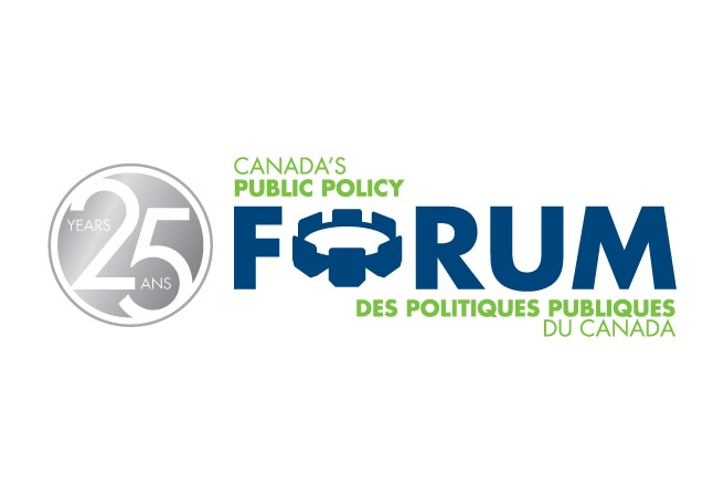 This logo for the Public Policy Forum was designed to complement its existing logo but incorporate a celebration of its 25 years of service in Canada. http://www.cyansolutions.com/work/services/corporate-identity #ottawa #marketingottawa #marketing #design #logo #logodesign #web #print