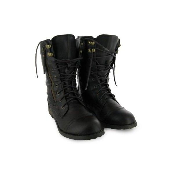 48H Ladies Brown Buckle Army Military Boots Size 3-8 Uk - Military.