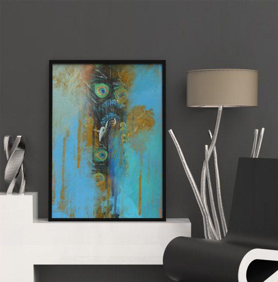 Peacock Prints, Art Printable, Unique Decor Ideas, Peacock Wall Art, Painting Printable, Home Decor Prints, Art Instant Download