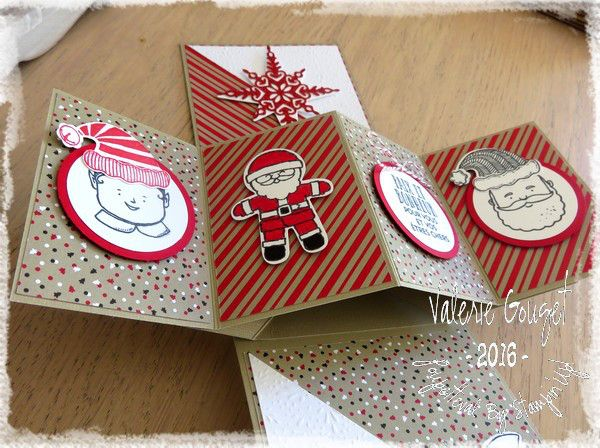Noël 2016 Twist Pop Up Card par Valérie Gouget Démonstratrice Stampin'Up