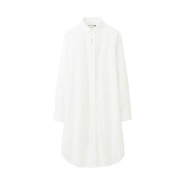 WOMEN Oxford Shirt Dressfrom UNIQLOUK
