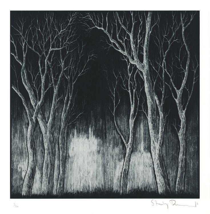 Stanley Donwood print: Bad Woods III