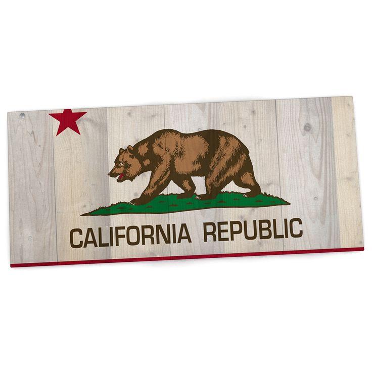 "Bruce Stanfield ""California Flag Wood"" Brown Desk Mat"