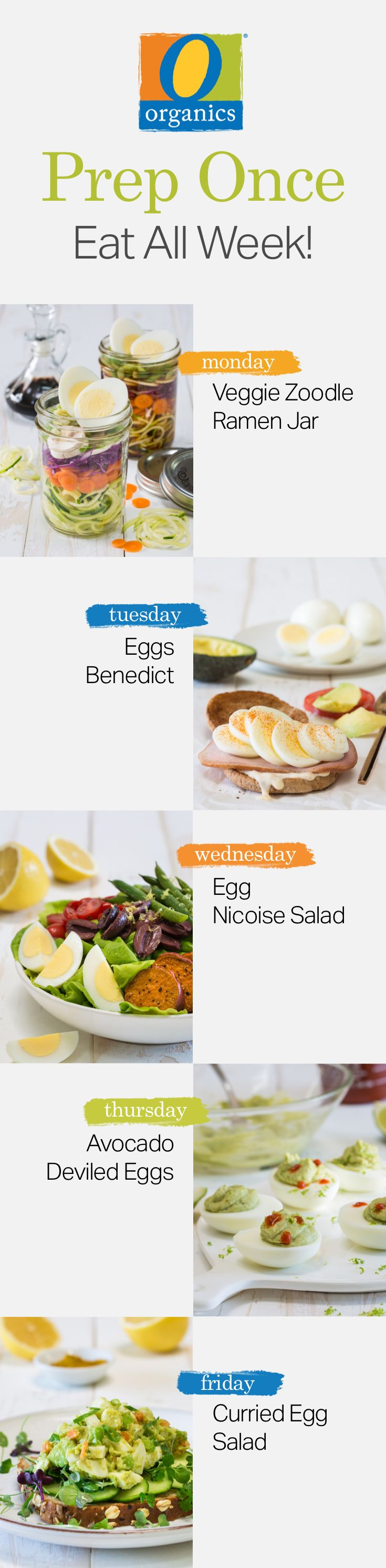 Make your New Years goals a reality by meal prepping O Organics® eggs and enjoy these five healthy recipes all week long!