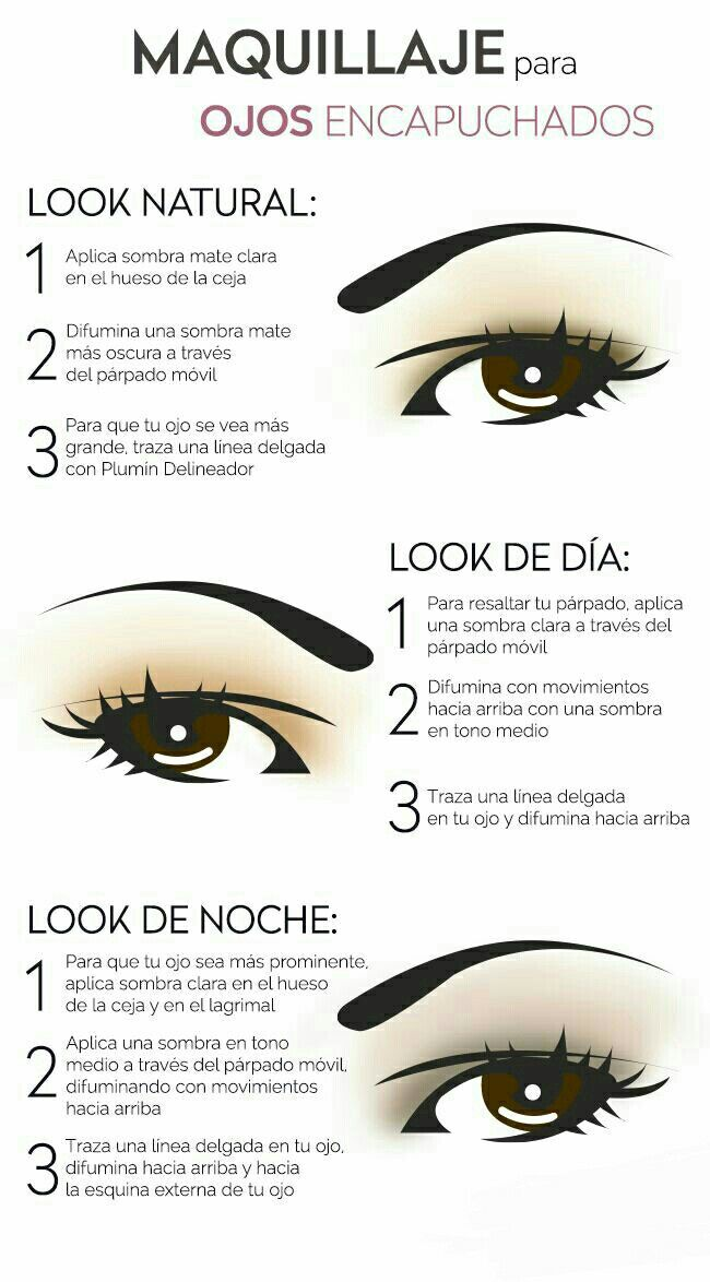 Makeup Artist ^^ | https://pinterest.com/makeupartist4ever/  Maquillaje de ojos para párpados caíd