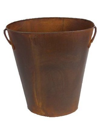 Craft Outlet Rustic Waste Basket with Handles, 12-Inch ❤ COIIN