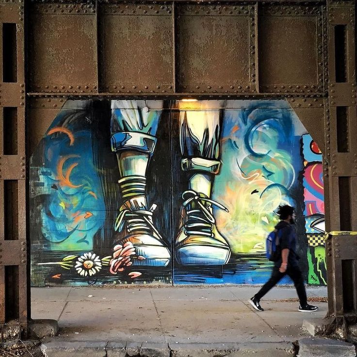 """The end of the romance"" Chicago, USA: new piece by Italian artist Alice Pasquini."