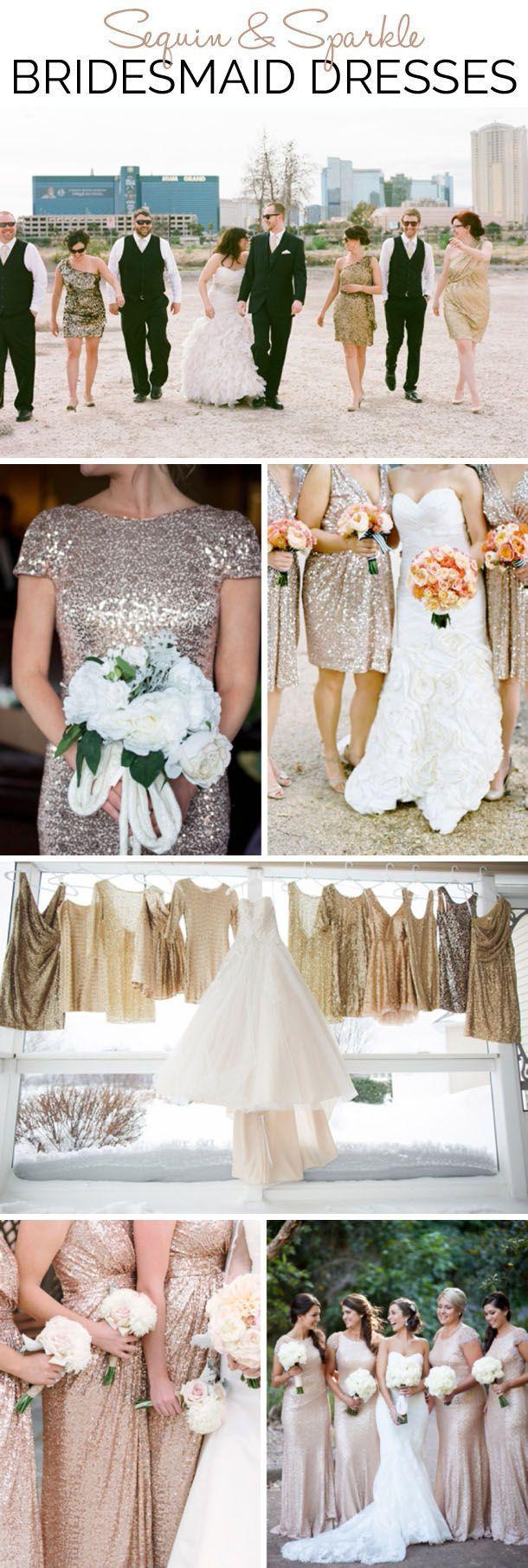 Get the Look: Sequin & Sparkle Bridesmaid Dresses | SouthBound Bride | http://www.southboundbride.com/bridesmaid-boutique-sequin-sparkle | Credits:  Gaby J Photography // The Monarch Studio // Ben Q. Photography // Lauren Fair // Shannon Moffit // Tealily Photography