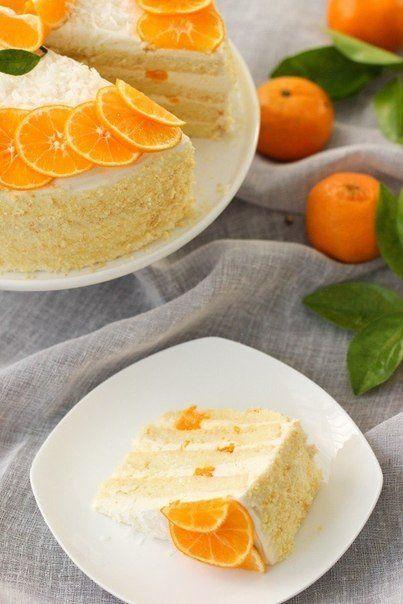 Невероятный мандариновый торт
