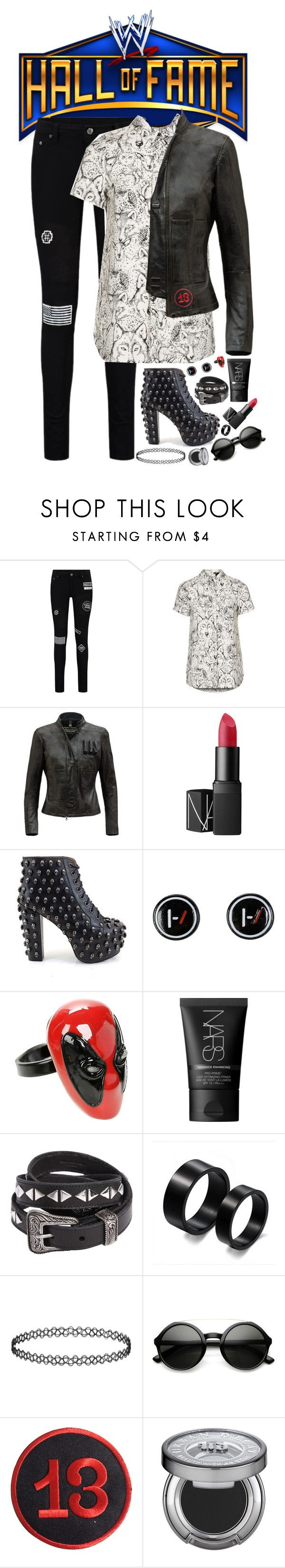 """""""WRESTLING INC BREAKING NEWS: Indie wrestler Lyrica seen at WWE Hall Of Fame Ceremony with friend Dean Ambrose (read desc.)"""" by jet-black-fart ❤ liked on Polyvore featuring Topshop, NARS Cosmetics, Jeffrey Campbell, Yves Saint Laurent, LUCKY 13 and Urban Decay"""
