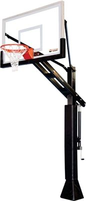 """ProView 554 PROformance Basketball Goal - The ProView series of basketball hoops sets the standard for incredible playability and unbelievable durability for the most demanding of athlete. Boasting a 7 gauge 5"""" x 5"""" steel pole, 36"""" x 54"""" 1/2"""" Glass ProView backboard, core connected dual spring reflex rim and a hydraulic lift height adjustment, this goal is the definition of PROformance tough."""