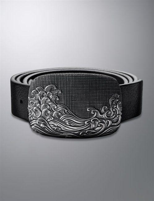 David Yurman | Men | Belt Buckles: 42x60mm Waves Belt Buckle