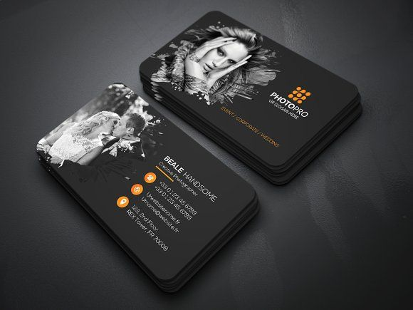 576 best business card template design images on pinterest photography business card reheart Images