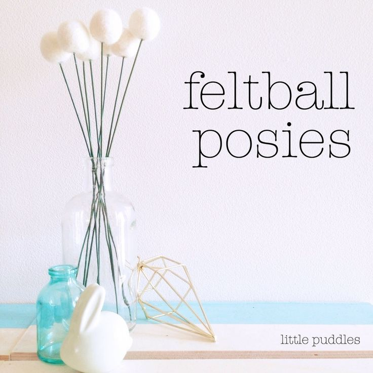 Image of Feltball Posies - choose your colours!
