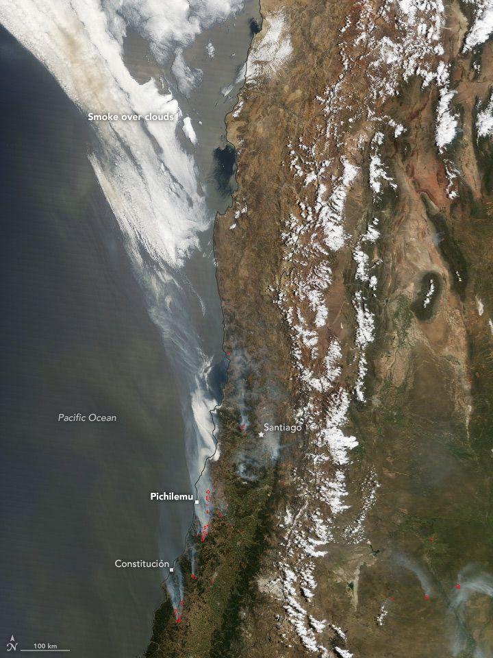 Los incendios incendio en Chile: Riesgos Naturales