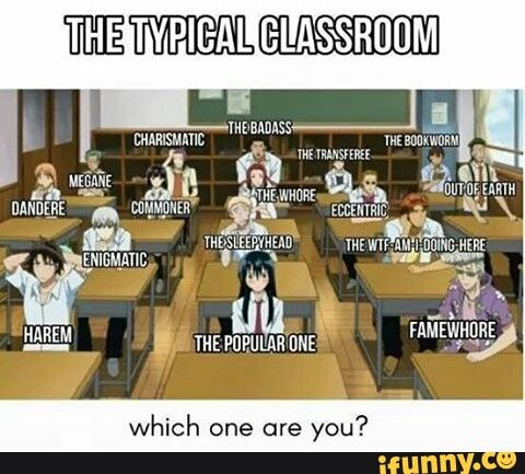 I'm the 'Wtf am I doing here' especially because I'm on social media when I have homework... xD... o_o