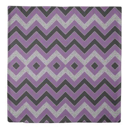 Chevron Purple Duvet Cover - unusual diy cyo customize special gift