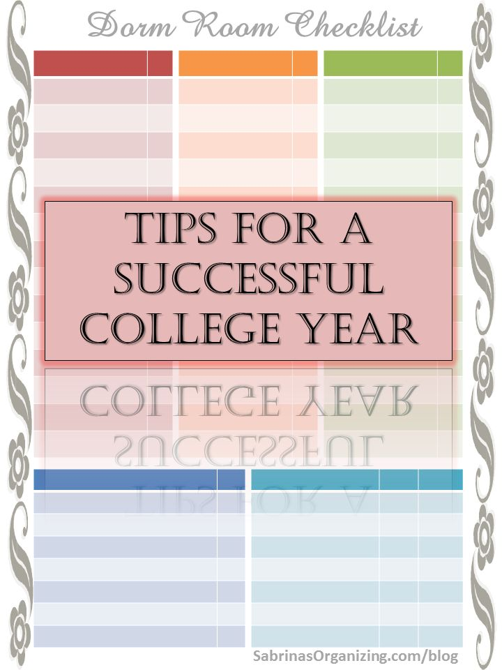 Tips for a successful college year