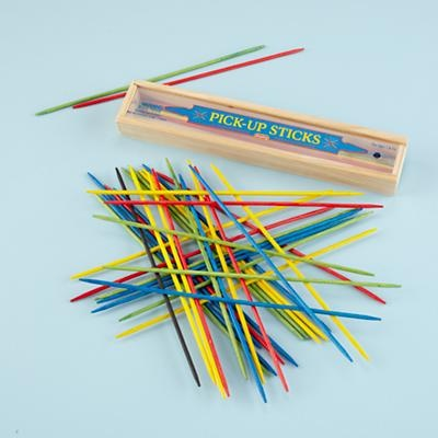 Pick-up sticks. My cousins and I used to be crazy with this game. It is probably one of the tools that helped me develop a steady hand.
