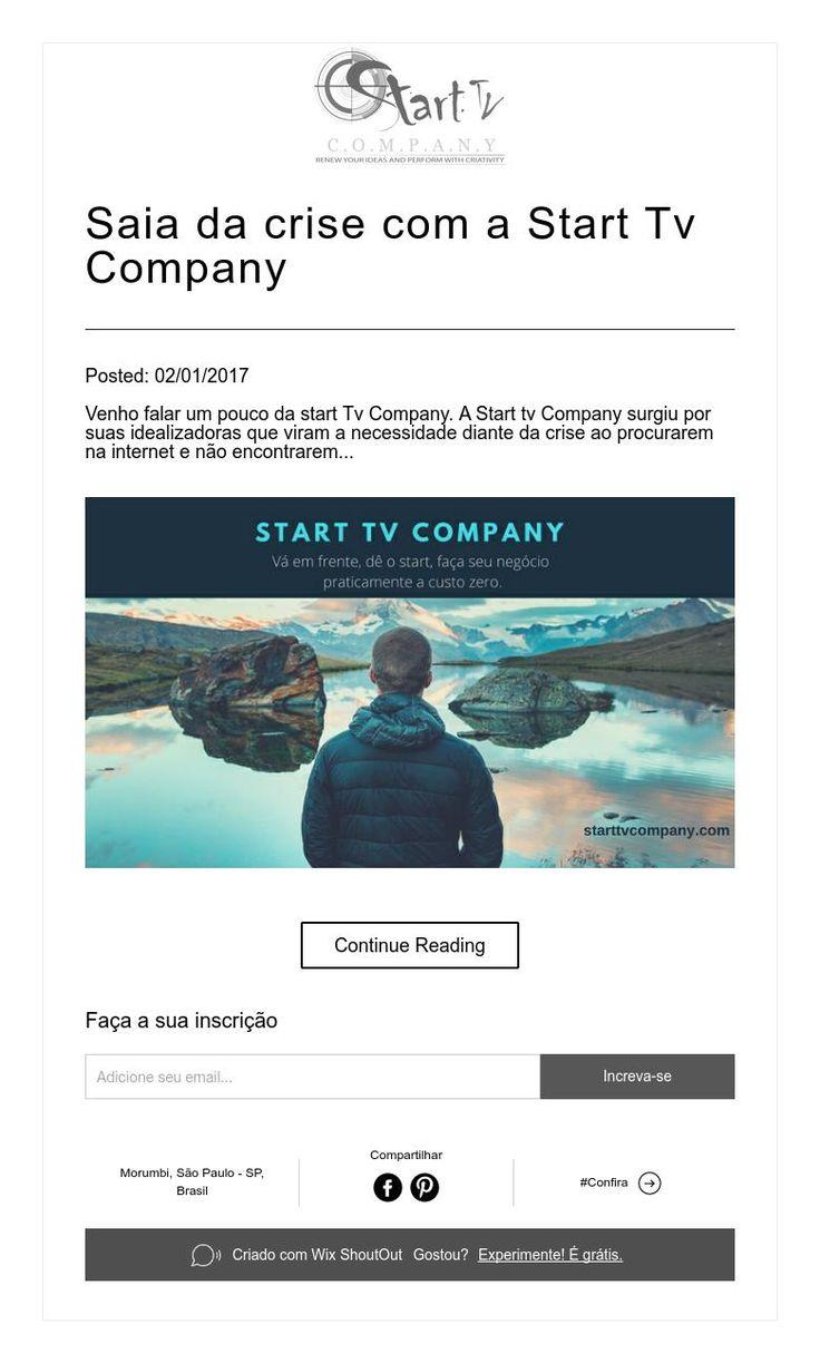 Saia da crise com a Start Tv Company