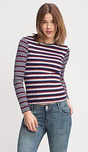 Sklep internetowy C&A | Koszulka - kolor: czerwony / ciemnoniebieski