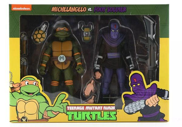 NECA TMNT Leonardo vs Shredder 2-Pack Teenage Mutant Ninja Turtles Target