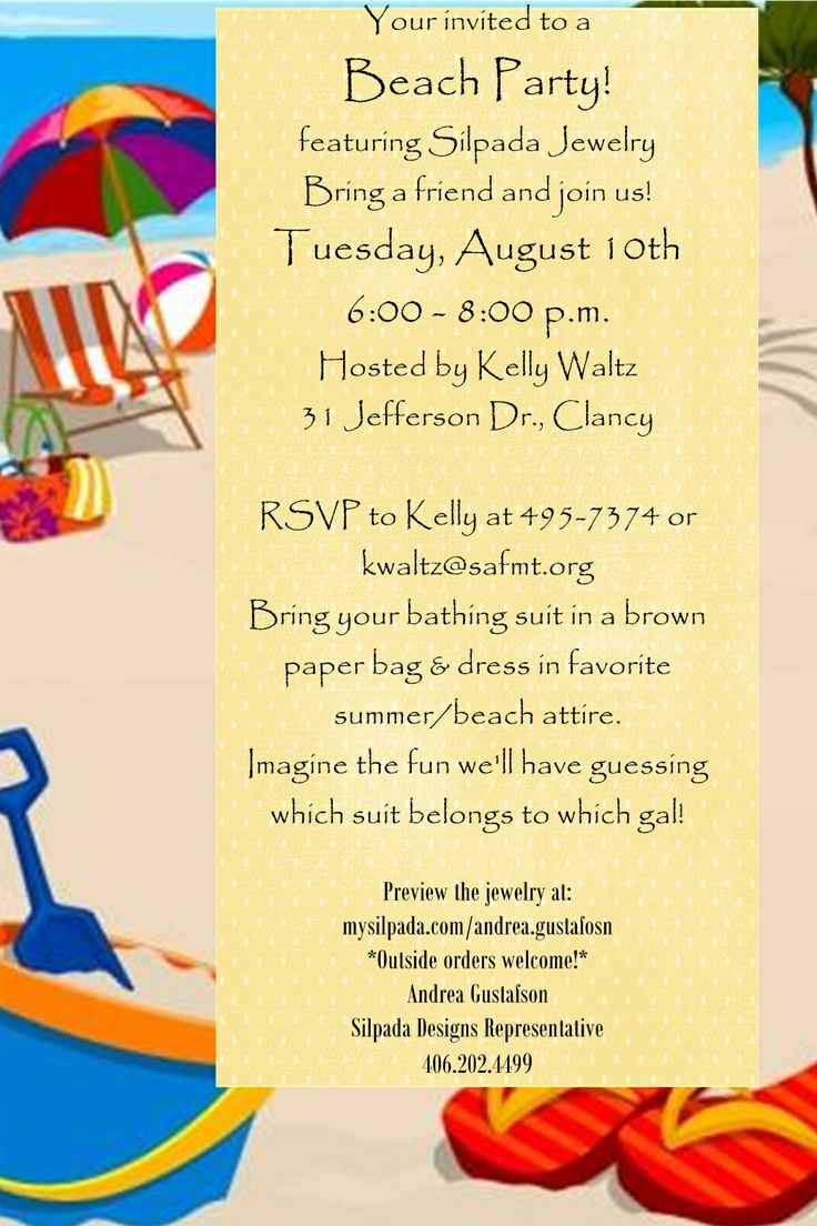 75 best images about Adult Party Invitation Styles – Beach Themed Party Invitations