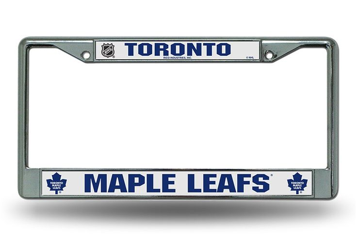 Toronto Maple Leafs Chrome License Plate Frames