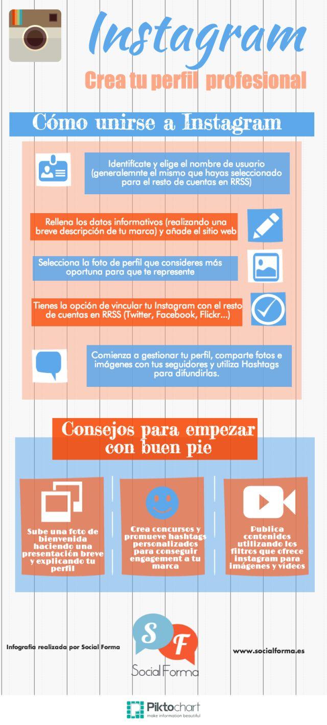 Como empezar en #Instagram con un perfil de empresa #infografia #socialmedia