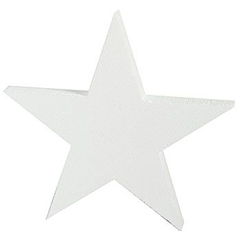 Our Styrofoam Stars are fantastic painted or leave them white. Each Styrofoam Star measures 12 inches in diameter and is 1 inch thick.