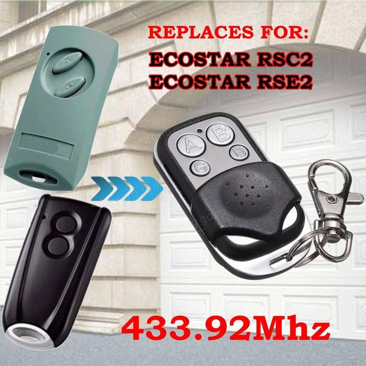 433.92MHz Garage Gate Door Remote Control for Ecostar RSC2 Ecostar RSE2 Replaces9