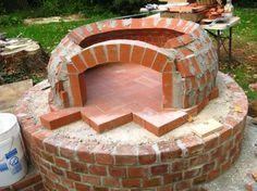 Pizzaofen bauen Ziegel oval  #kamin