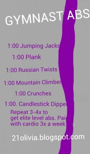 Elite level gymnast abs workout