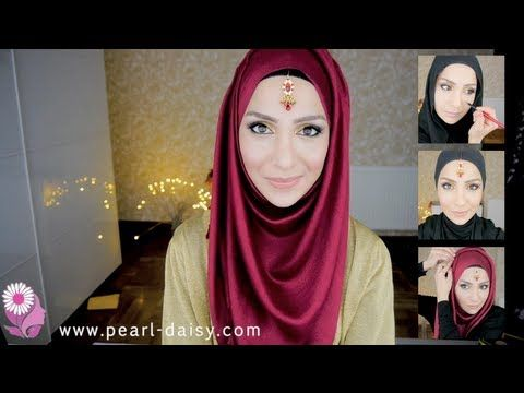 SIMPLE BRIDE MAKEUP & HIJAB STYLE! INDIAN EDITION | Amena - YouTube