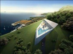 Виллы «Rock» и «Shell» от Захи Хадид (Zaha Hadid Architects). Дубровник, Хорватия. Dezeen_Zaha_Hadid_Architects_Dubrovnik_Rock01