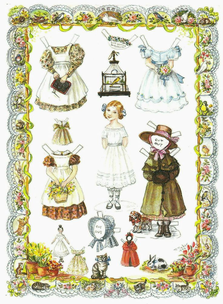Tasha Tudor Illustration. I love paper dolls. This is the first one I've ever seen who had her own paper doll.