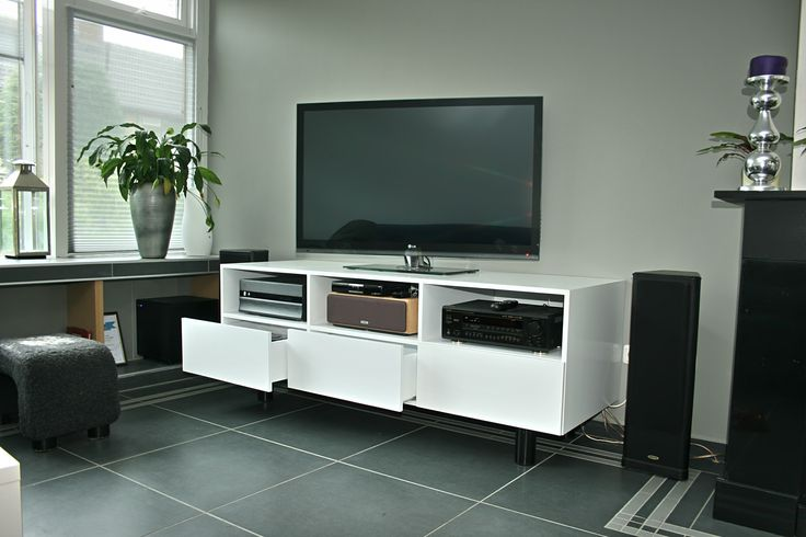 Television cabinet. The final result with drawers added and all equipment installed. www.thecabinetmaker.ie