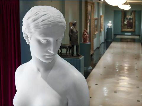 "Hiram Powers' 1847 sculpture ""The Greek Slave."""