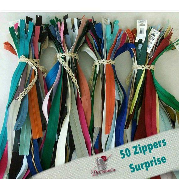 50 zippers SURPRISE petits et grosses mailles reg 150