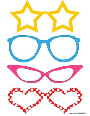 Glasses from Mickey Mouse & Friends Inspired Printable Photo Booth Prop Set 2