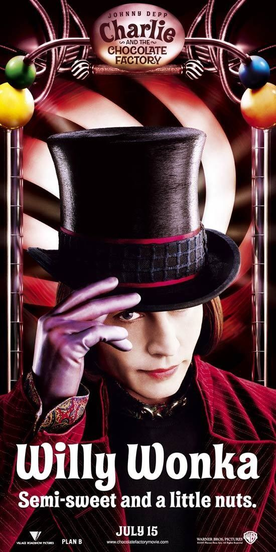 Charlie and the Chocolate Factory - love  how Johnny Depp morphs into every character he plays.